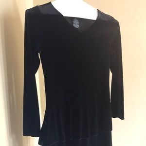 Velvet drop waist dress